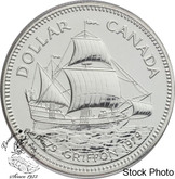 Canada: 1979 $1 Griffon Tricentennial (with Ship) Silver Dollar Coin