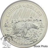 Canada: 1980 $1 Arctic Territories Centennial (with Polar Bear) Silver Dollar Coin