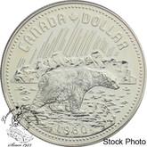 Canada: 1980 $1 Arctic Territories Centennial (with Polar Bear) Silver Dollar Coin