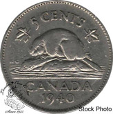 Canada: 1940 5 Cent CIRCULATED