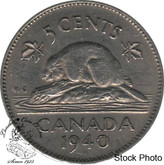 Canada: 1940 5 Cent EF40