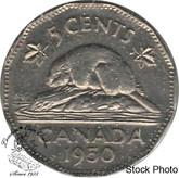 Canada: 1950 5 Cent AU50