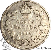 Canada: 1914 10 Cents VG8