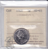 Canada: 1968 5 Cents ICCS MS65 Coin nr 1