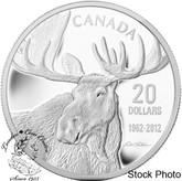 Canada: 2012 $20 Robert Bateman Bull Moose Pure Silver Coin