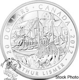 Canada: 2012 $20 Arthur Lismer, Nova Scotia Fishing Village, Group of Seven, Silver Coin
