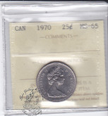 Canada: 1970 25 Cents ICCS MS65 Coin nr 1