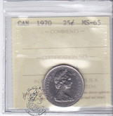 Canada: 1970 25 Cents ICCS MS65 Coin nr 2