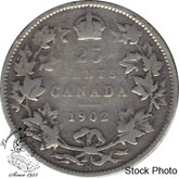 Canada: 1902H 25 Cents VG8