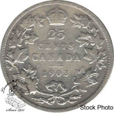 Canada: 1903 25 Cents VG8