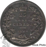 Canada: 1903 25 Cents F12