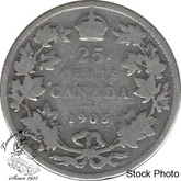 Canada: 1905 25 Cents G4