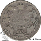 Canada: 1905 25 Cents VG8