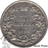 Canada: 1905 25 Cents F12