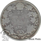 Canada: 1907 25 Cents G4