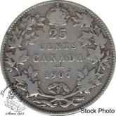 Canada: 1907 25 Cents VG8