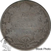Canada: 1908 25 Cents G4