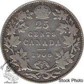Canada: 1908 25 Cents VG8