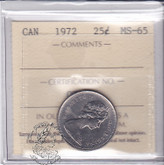 Canada: 1972 25 Cents ICCS MS65 Coin nr 3