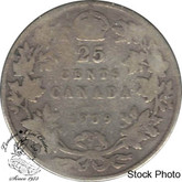 Canada: 1909 25 Cents G4