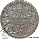 Canada: 1909 25 Cents VG8