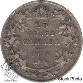 Canada: 1910 25 Cents F12