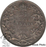 Canada: 1911 25 Cents F12
