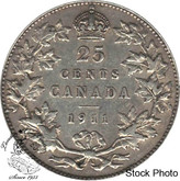 Canada: 1911 25 Cents VF20
