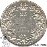 Canada: 1912 25 Cents EF40