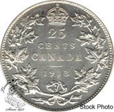 Canada: 1913 25 Cents EF40
