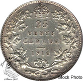 Canada: 1914 25 Cents EF40