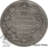 Canada: 1917 25 Cents VG8