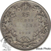 Canada: 1917 25 Cents VF20