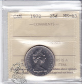 Canada: 1972 25 Cents ICCS MS65 Coin nr 8
