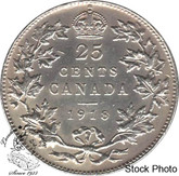 Canada: 1918 25 Cents EF40