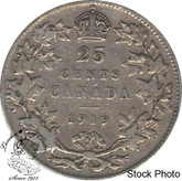 Canada: 1919 25 Cents F12
