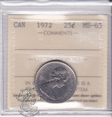 Canada: 1972 25 Cents ICCS MS65 Coin nr 9