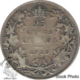 Canada: 1920 25 Cents VG8