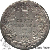 Canada: 1920 25 Cents EF40