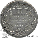 Canada: 1929 25 Cents F12