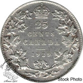 Canada: 1929 25 Cents VF20