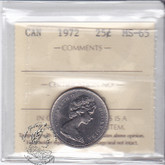 Canada: 1972 25 Cents ICCS MS65 Coin nr 12