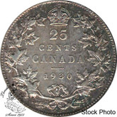 Canada: 1930 25 Cents EF40