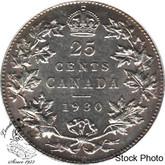 Canada: 1930 25 Cents AU50