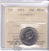 Canada: 1972 25 Cents ICCS MS65 Coin nr 13