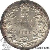 Canada: 1932 25 Cents AU50