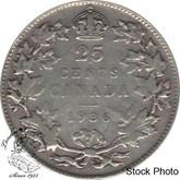 Canada: 1936 25 Cents Dot F12