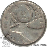 Canada: 1939 25 Cents VF20