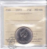 Canada: 1972 25 Cents ICCS MS66 Coin nr 5