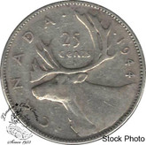 Canada: 1944 25 Cents F12
